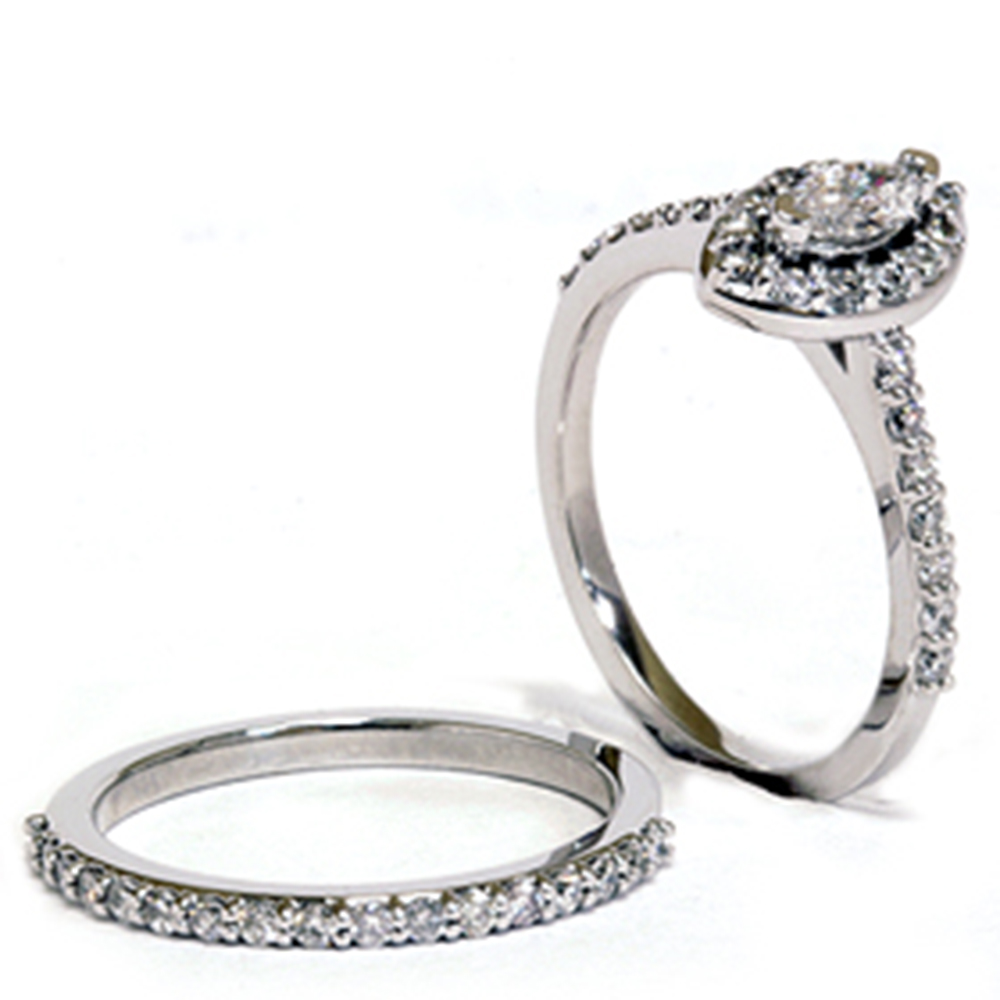 7 8ct marquise engagement wedding ring matching