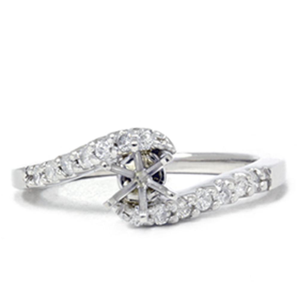 Women s 1 4ct Diamond Engagement Ring 14K White Gold Setting Mounting