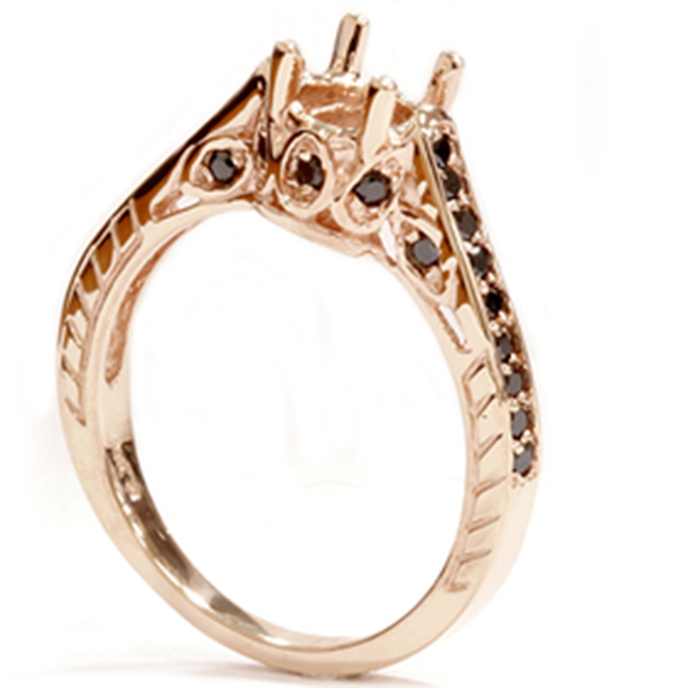 Three Diamond Rose Gold Ring