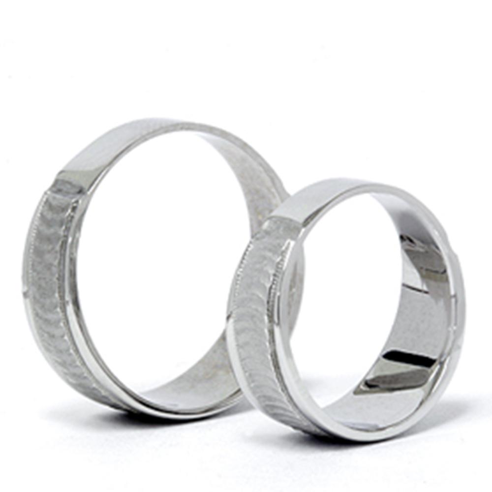 matching 14k white gold his hers wedding ring band set ebay