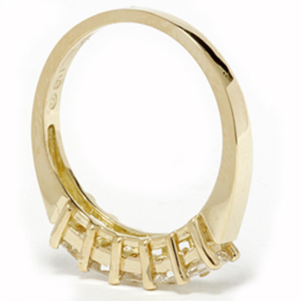 Ct princess cut diamond anniversary k yellow gold ring