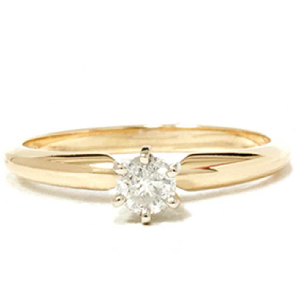 Gold 1 5ct Round Solitaire Diamond Engagement Ring