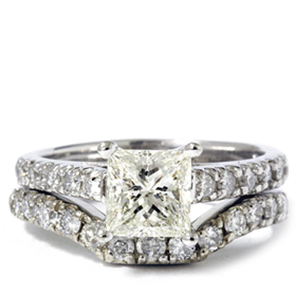 1 1 2ct enhanced princess cut engagement ring