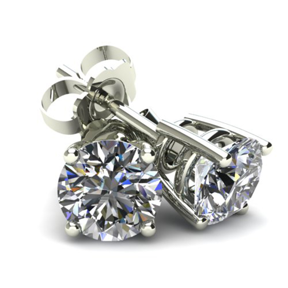 .20Ct Round Brilliant Cut Natural Diamond Stud Earrings Basket Set In 14K Gold