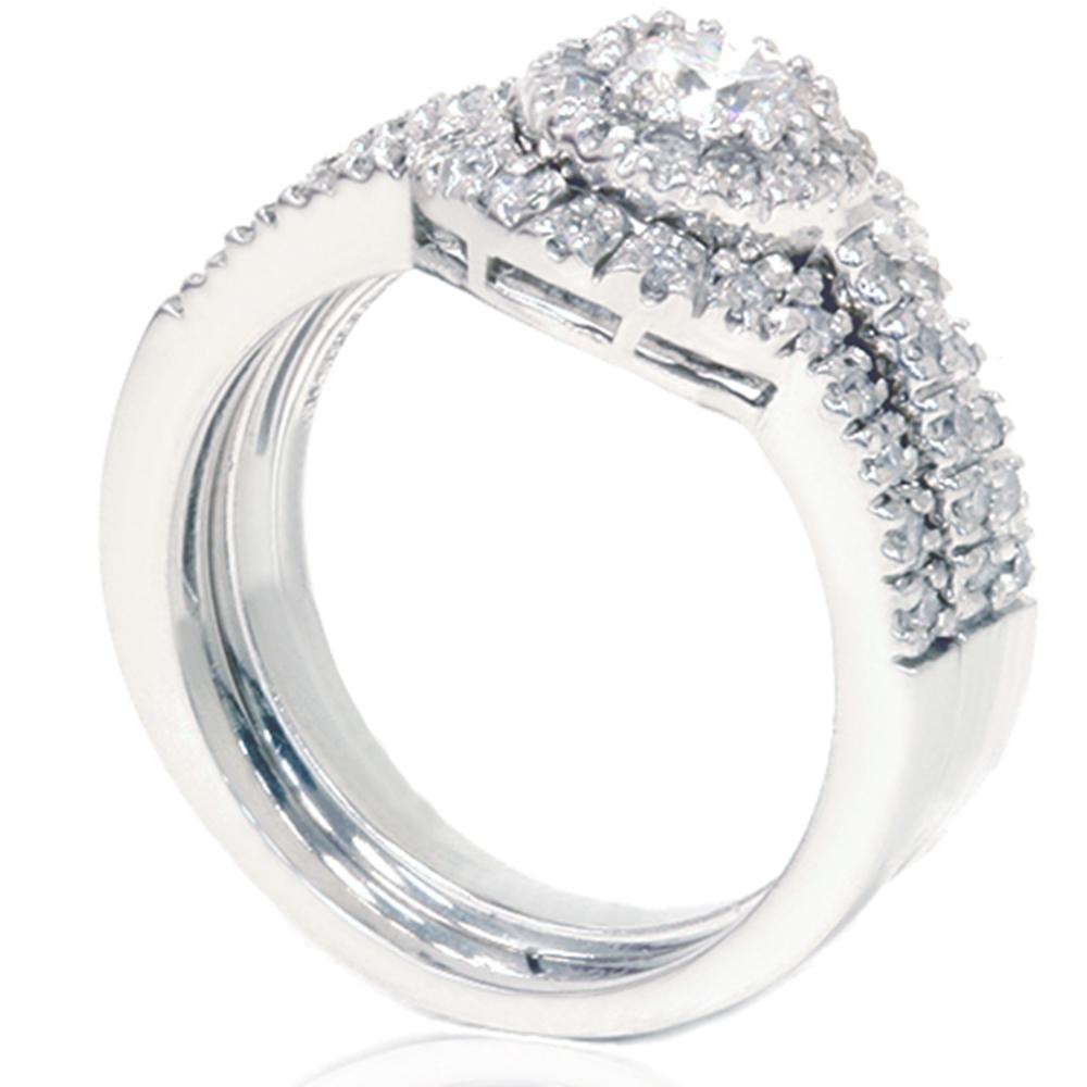 Matching Diamond Engagement And Wedding Ring 1 46ct: 1.25 CT Diamond Engagement Ring Matching Wedding Band