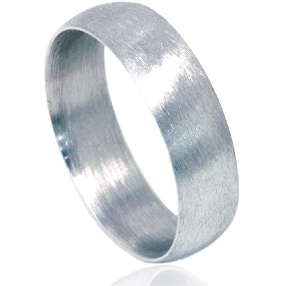 6mm platinum matte finish mens wedding band ring On 6mm platinum mens wedding band