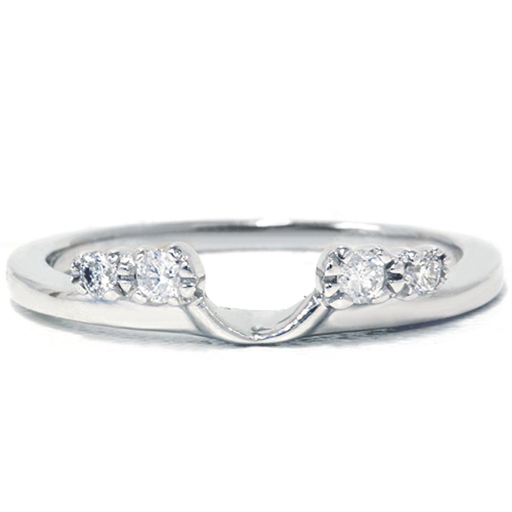 1 5ct diamond enhancer ring 14k white gold. Black Bedroom Furniture Sets. Home Design Ideas
