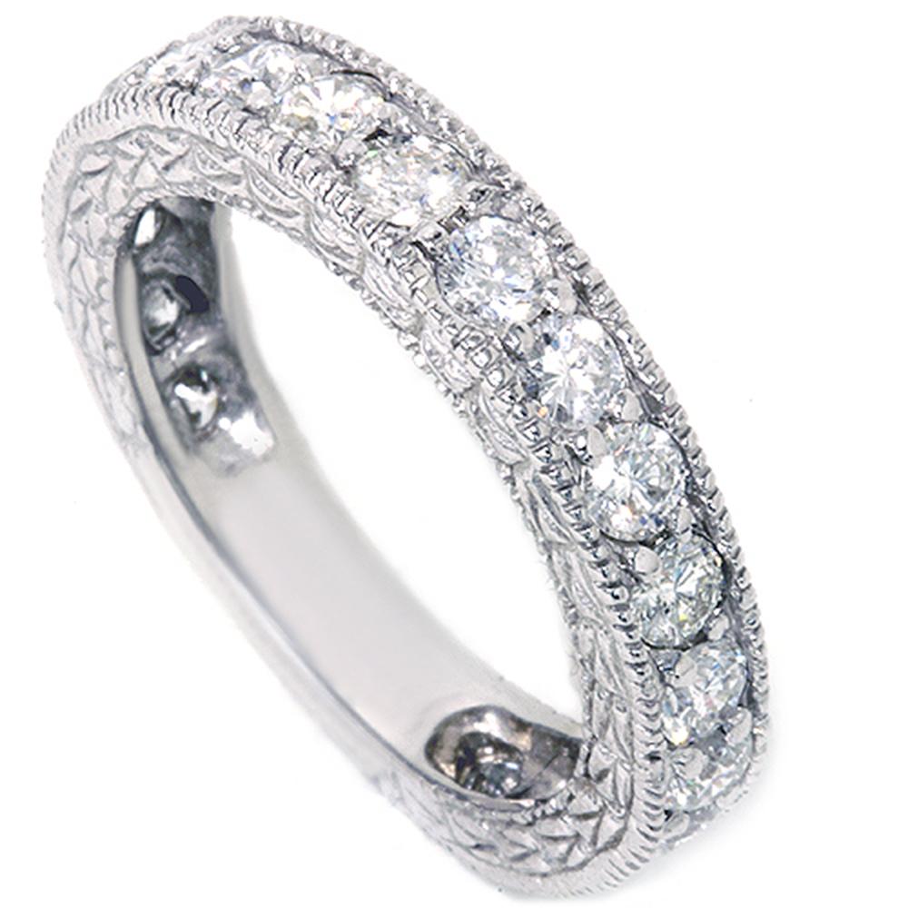 1 5/8ct Natural Diamond Anniversary Wedding Ring Vintage