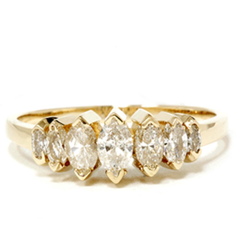 K yellow gold ct marquise diamond wedding anniversary