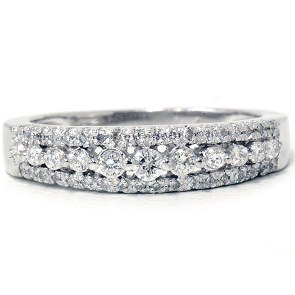 1/4ct Diamond Anniversary Wedding Ring 10K White Gold ...