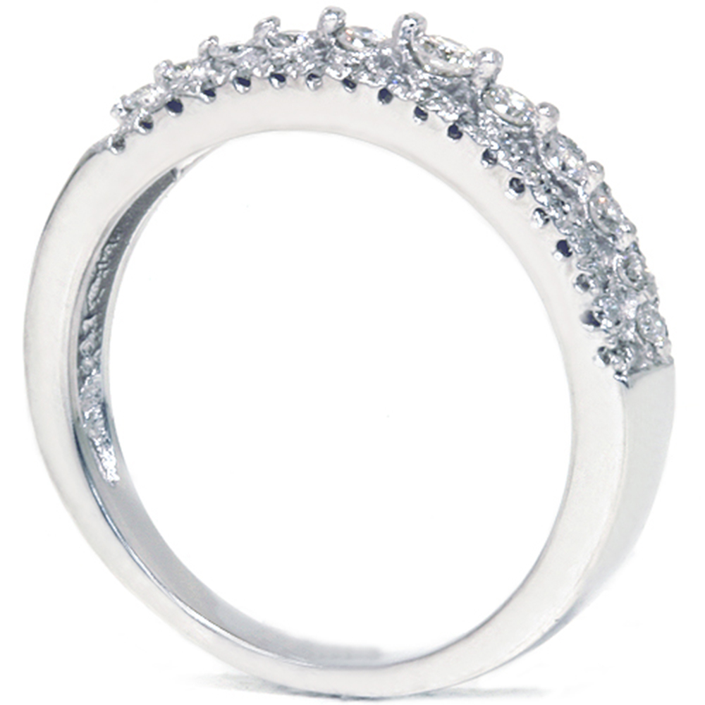 Ct diamond anniversary wedding ring k white gold