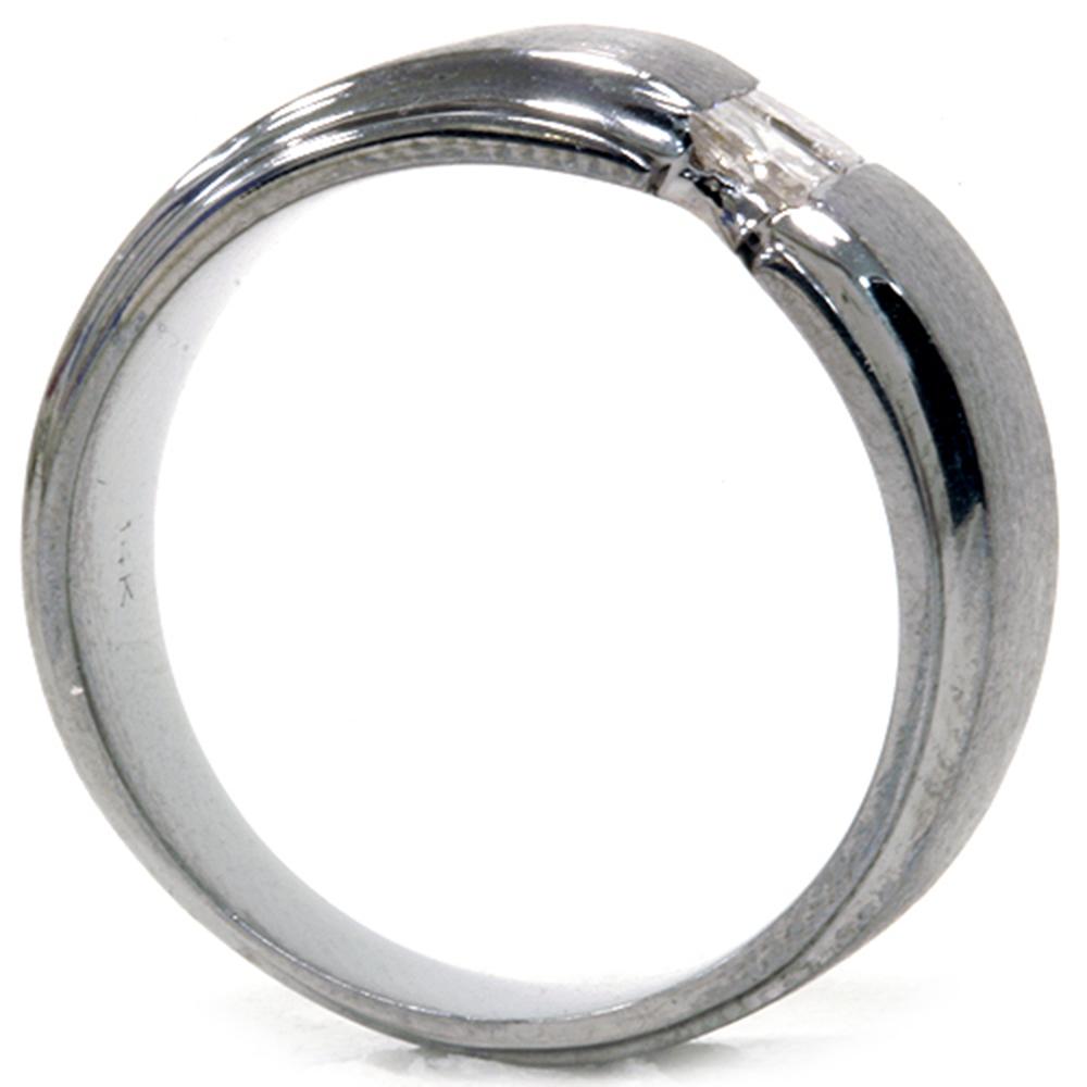 1 4ct princess cut mens diamond ring 14k black gold