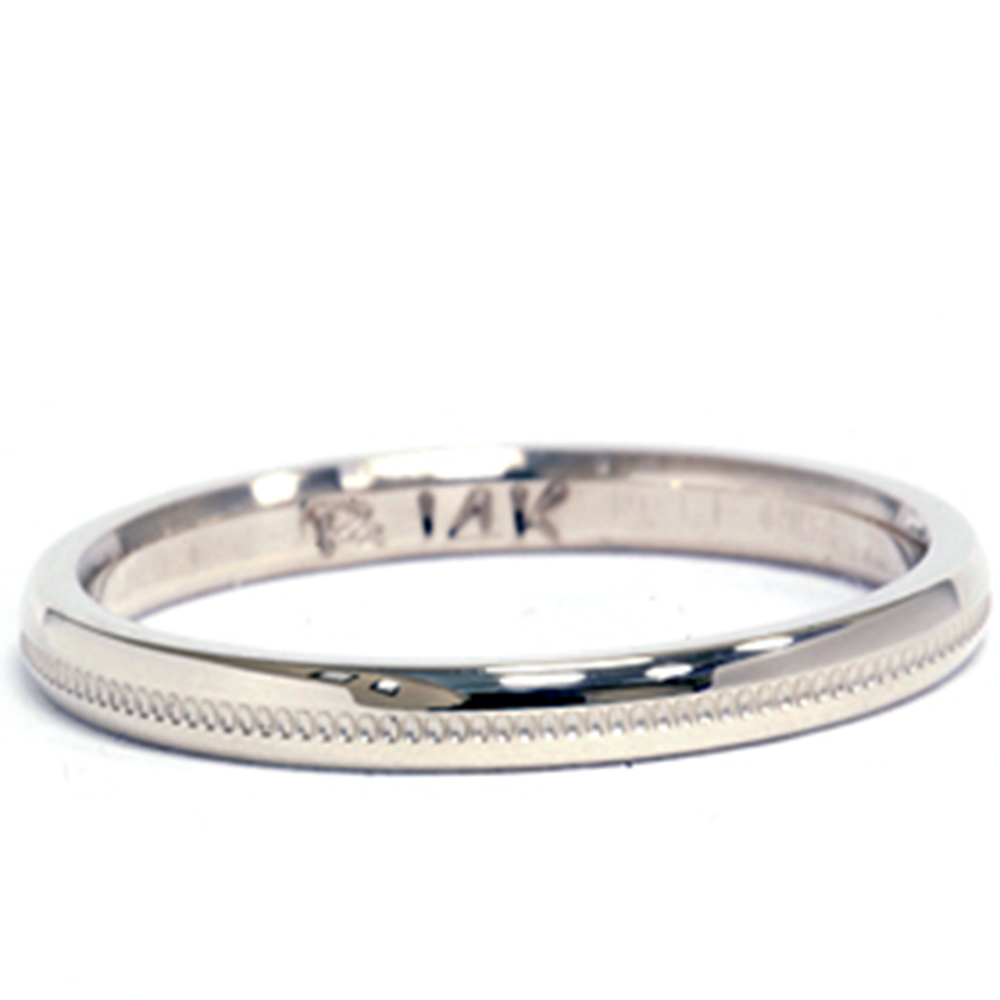 2mm-14K-White-Gold-Milgrain-Wedding-Band-Ring-Brand