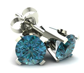 4 Prong Round Classic Blue Diamond