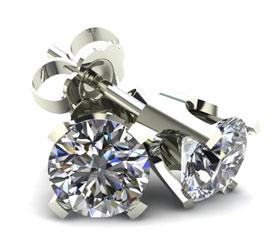 4 Prong Round Classic White Diamond
